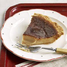 Hoosier Sugar Cream Pie - The Quaker homesteaders in the early 1800s were making this pie!  Heavy Cream, flour, sugar, vanilla, milk...