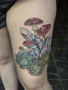 Crystals/Succulents/Mushrooms by Blayne Bius @ Stygian Gallery in Atlanta GA.