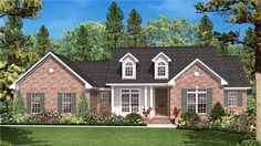 Home Plan HOMEPW77614 is a gorgeous 1600 sq ft, 0 story, 3 bedroom, 2 bathroom plan influenced by Ranch style architecture.