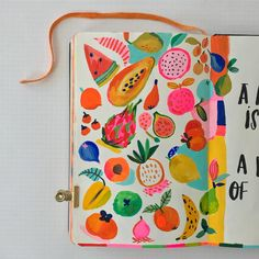 GORGEOUS! Just look at this sketchbook aww... I LOVE discovering creative art sketchbooks made by talented artists. There's so much inspiration in them... each page filled with amazing drawings and cute illustrations - love it! #artsketchbook #artsketchbook ideas #creativeartsketchbook