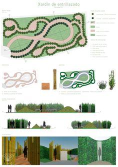 Poster, concurso de jardins, JAG, Allariz, Jardins, arquitetura paisagista