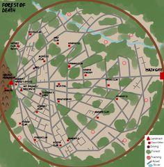 Naruto World Map Lands and Hidden Villages | Naruto Geography ...
