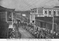 Fila de prisioneros españoles entre Las Marías y Mayagüez.