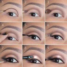 Lightly smoked out eye tutorial