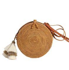 Canteen-Tassel (Custom) - natural weave & natural colored tassel