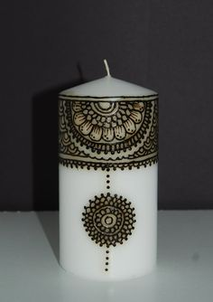3 x 4 Floral Medallion Henna Candle by BelleGitane on Etsy