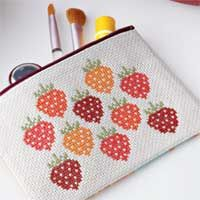Download the free Strawberry Fields Cross-Stitch Design Chart to complete the cosmetic purse featured in April/May '10 Sew News.