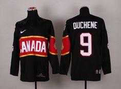 Team Canada 9 Matt DUCHENE 2014 Winter Olympics Jersey - Black