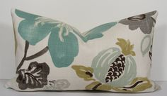 Turquoise Teal Decorative pillow cover  Kravet  by WilmaLong, $39.00