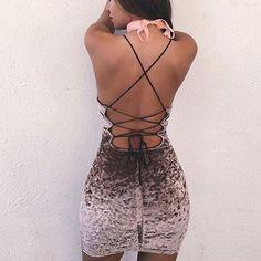 Crossed Velvet Dress