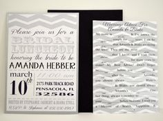 Chevron Bridal Luncheon Invitations  Set of by LaRoseDesignStudio, $60.00