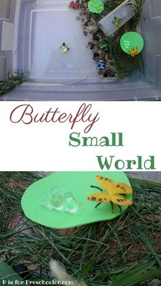 Hands-on learning about butterflies with a small world pretend play activity