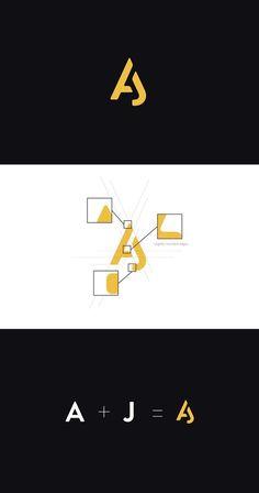 Aaron Johnson by Aaron Johnson logo icons Personal Branding Logo And Identity, Logo Branding, Branding Design, Logo Desing, 1 Logo, Best Logo Design, Corporate Design, Logo Inspiration, Blog Logo