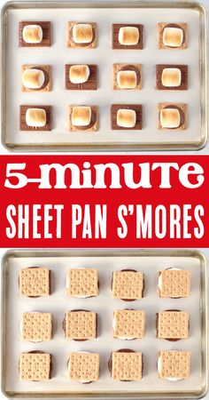 How to Make Smores in the Oven! Easy Recipes Kids will LOVE! It's such a cinch! In less than 5 minutes you can have perfectly toasted marshmallows with a golden brown top and soft, gooey center… perfect for parties, game nights, or an indoor movie night! Go grab the recipe and give them a try this week! Oven Smores, Drink Recipes, Baking Recipes, Easy Recipes, Easter Desserts, Christmas Desserts, Baking For Beginners, Easy Meals For Kids, Birthday