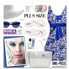 Rhea Footwear 6- plus-size swimwear by anyasdesigns on Polyvore featuring Emilie M, Bobbi Brown Cosmetics, Orlane and Kori