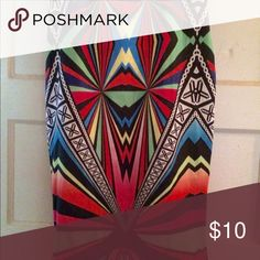 Madrag multicolored midi skirt Multicolored print skirt. So sweet with a tank top and heels. Eye catching. Madrag Skirts Midi