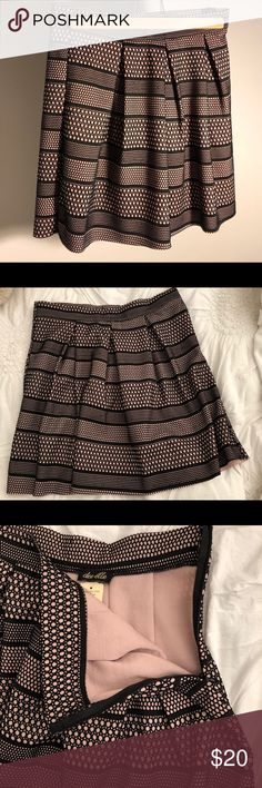 4300a29c42 Chic skirt in nude blush + black colors by Dee Elle from Von Maur.