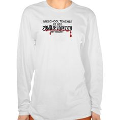 Preschool Zombie Hunter T Shirt, Hoodie Sweatshirt