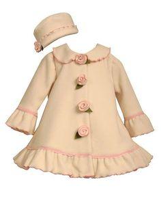 Bonnie Baby Set, Baby Girls Hat and Coat Set