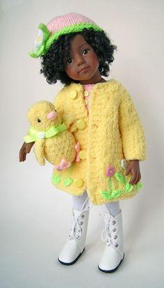"Easter Outfit for dolls 13"" Dianna Effner Little Darling & Maru #Unbranded"