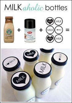 DIY decorate your milk bottles...maybe add something that matches your party theme