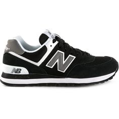 New Balance Rev Lite Trainers ($75) ❤ liked on Polyvore featuring shoes, sneakers, new balance, trainers, black, black sneakers, suede sneakers, suede shoes and black suede sneakers