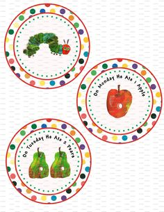Very Hungry Caterpillar Birthday Party Banner - Foods the caterpillar ate - Printable