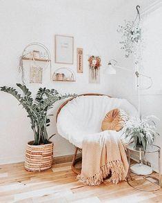 Cute Bedroom Decor, Cute Bedroom Ideas, Girl Bedroom Designs, Room Ideas Bedroom, Bedroom Inspo, Boho Room, Aesthetic Room Decor, Dream Rooms, Dream Bedroom