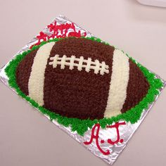 another football cake
