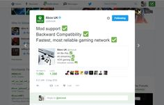 Xbox UK Verified account ‏@xboxuk Xbox UK Retweeted Xbox UK Mod support ✅  Backward Compatibility ✅  Fastest, most reliable gaming network ✅