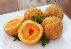 Galuste cu caise - Retete practice Beignets, Cantaloupe, Peach, Sweets, Homemade, Food, Table Arrangements, Decorations, Pie