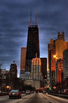 John Hancock Center | Chicago, IL. ... This is my neighborhood!  Love this City!