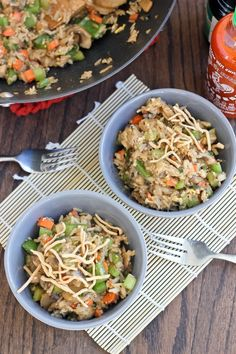 Veggie Sriracha Fried Rice | Bake Your Day