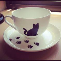The Sunday Girl: DIY Cat Tea Set