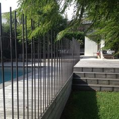 client_pool-fence-7 Fence Landscaping, Pool Fence, Landscape Concept, Landscape Design, Fence Gate, Fencing, Slate Pavers, Outdoor Rooms, Outdoor Decor