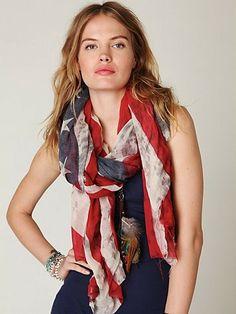 american flag scarf!