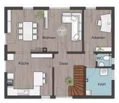 Grundriss Erdgeschoss Stadthaus Flair RE House - Hauser in minecraft einfugen