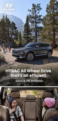 If you're going to enjoy the great outdoors with the family, why not do it in style? The first-ever SANTA FE Hybrid offers comfort, convenience and a wide variety of intuitive tech — like User Profiles and Remote Smart Parking Assist — to make life easier. Optional features shown. Hyundai Cars, Smart Key, New Adventures, Santa Fe, The Great Outdoors, Remote, Tech, Life, Pilot