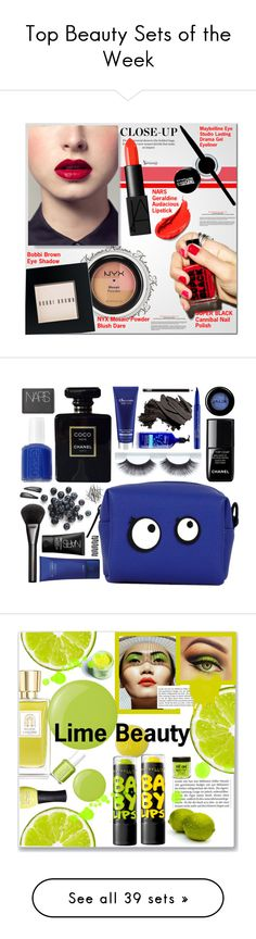 """""""Top Beauty Sets of the Week"""" by polyvore ❤ liked on Polyvore featuring beauty, NARS Cosmetics, NYX, Bobbi Brown Cosmetics, Maybelline, Topshop, le top, Chanel, Gucci and Essie"""