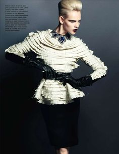 Fierce Fatale Photography - The Numero November 2012 Issue Allures with Noir Couture (GALLERY)