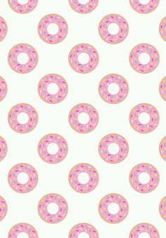 background, sweet, food, donats, pink, art, wallpaper
