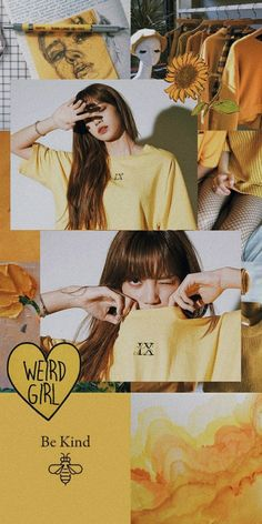 Lisa in yellow Aesthetic Pastel Wallpaper, Aesthetic Wallpapers, Kpop Aesthetic, Pink Aesthetic, Lisa Blackpink Wallpaper, Dark Wallpaper, Black Pink Kpop, Blackpink Photos, Montage Photo