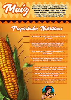 Infografia acerca de las propiedades del maiz Healthy Food, Healthy Recipes, Macros, Facebook Sign Up, Vegetables, Drinks, Home, Food Cakes, Healthy Foods