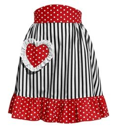 Heart, stripes and polka dots
