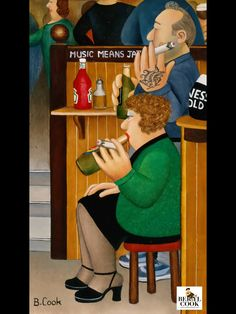 English Artists, British Artists, Beryl Cook, Plus Size Art, Fat Art, Funny Sexy, Naive Art, Portraits, Pictures To Paint