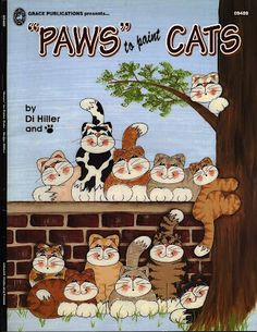 Paws to paint cats - taller paty - Picasa Web Albums Decorative Painting Projects, Tole Decorative Paintings, Tole Painting Patterns, Paint Patterns, Cat Crafts, Book Crafts, Craft Books, Children's Books, Fabric Painting