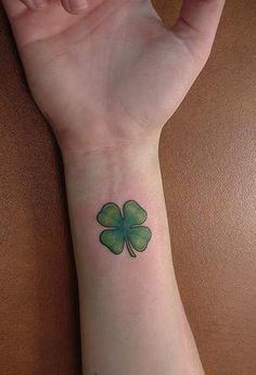 Four leaf clover tattoo.. I want a simple realistic one like this but in a different placement<3