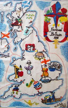 Festival Of Britain embroidery.