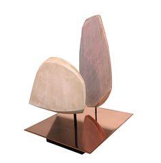 Lampe pétales en céramique, Pierre Yovanovitch, réalisée par Armelle Benoit céramiste.