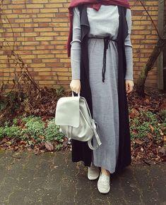 cardigan, hijab, and inspiration image